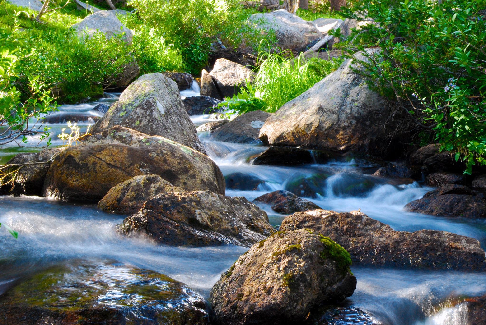 Un ruisseau bondissant